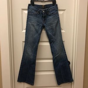 7 For All Mankind Womens Bootcut Jeans Sz 25